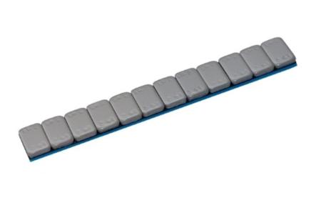Ciężarek klejony stalowy zaokrąglony POWLEKANY (12x5g)