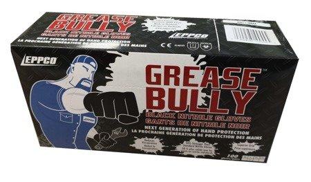Rękawiczki nitrylowe Grease Bully L (pud. 100szt.) Czarne